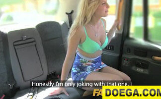 FakeTaxi English Cock in the Ass for Hot Blonde New Video