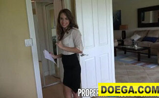 Insanely Hot Realtor Flirts with Client and Fucks on Camera
