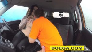Fake Driving School Busty Jailbird Takes Instructor on a Wild Ride