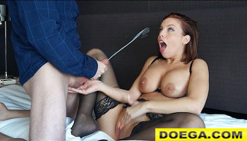 Escort Gets Plowed Client Empties his Nuts on her Face...and the Wall